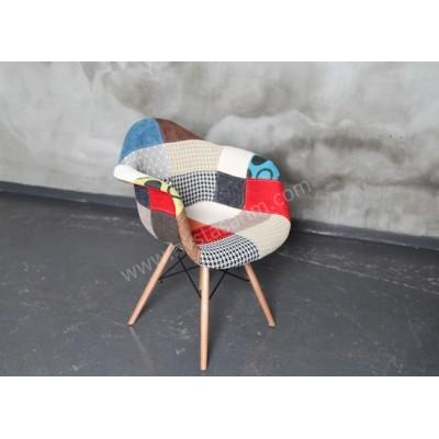 SAN6 Patchwork Kolçaklı Sandalye