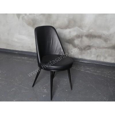 SAN5 Kolçaksız Deri Sandalye