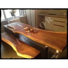 Ağaç Masa 0027 Karaağaç Doğal Ahşap Masa