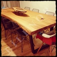 Ağaç Masa 0072 Kestane ahşap yemek masası