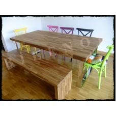 Ağaç Masa0006 Masif Panel Ahşap Yemek Masası