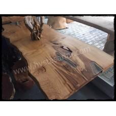 Kestane masif ahşap yemek masası