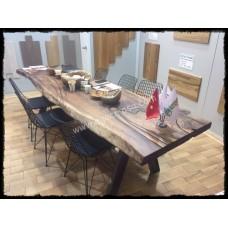 MA0126 Ceviz Doğal Ahşap Toplantı Masası