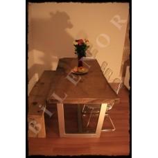 Ağaç Masa 0002 Kestane doğal ahşap yemek masası